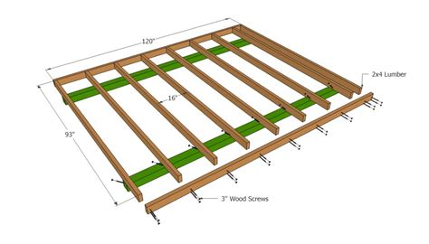 Distance Between Screws On Plywood Floor - barn shed plans howtospecialist how to build step by