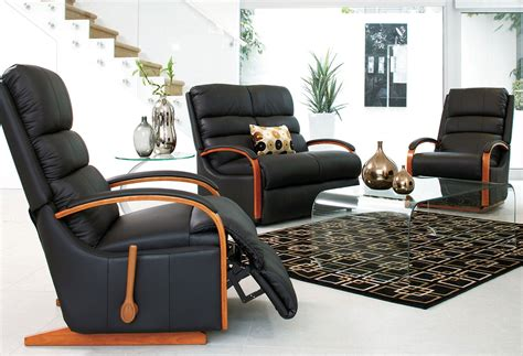 recliner leather lounge suite charleston 3 piece leather recliner lounge suite by la z