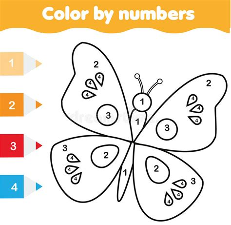 butterfly coloring page education com coloring page with butterfly color by numbers educational