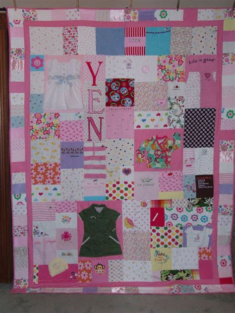 Etsy Baby Clothes Quilt by Size Patchwork Quilt Made From Your Clothes Baby Items Or Other Material Custom Orders