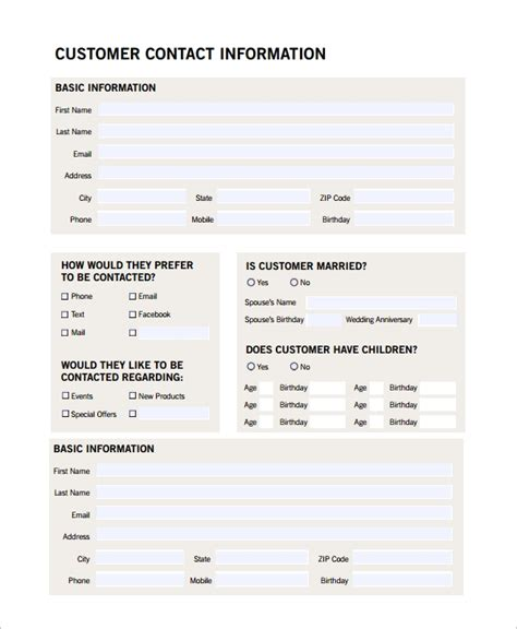 sales customer profile template 8 sle customer profiles sle templates
