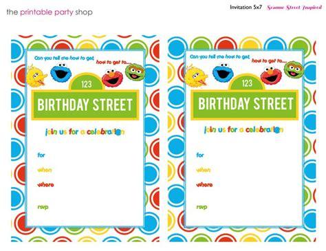 free sesame birthday invitation templates sesame printable invitation diy fill in the blank