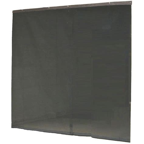 Home Depot Door Screens by Instant Screen 120 In X 96 In Black Garage Screen Door