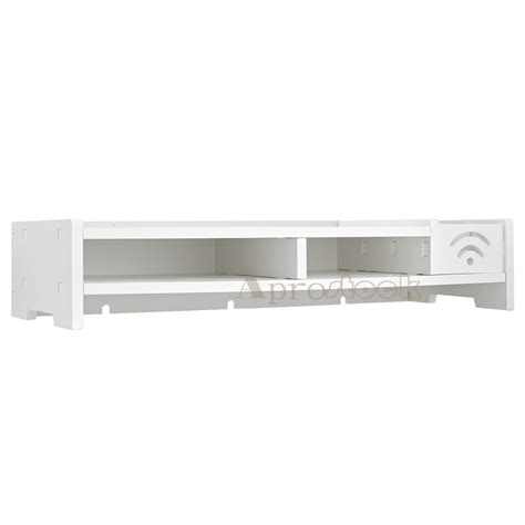 lcd tv laptop computer monitor screen stand riser white