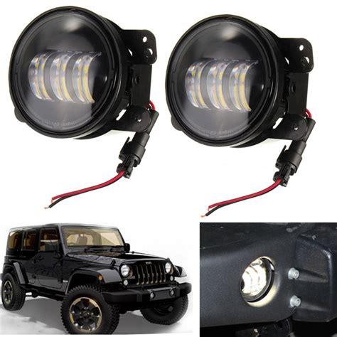 Jeep Jk Led Fog Lights 2 Pcs 4 Inch Osram Led Fog Lights Bulb For Jeep Wrangler