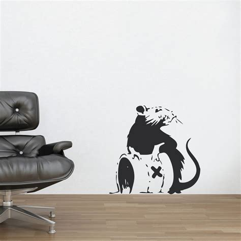 banksy wall stickers uk banksy wall stickers banksy rat poison wall decal