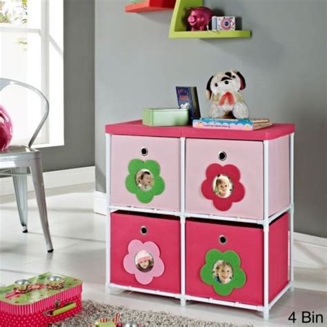 kids bedroom bin pink flower bin storage system girl kids bedroom playroom
