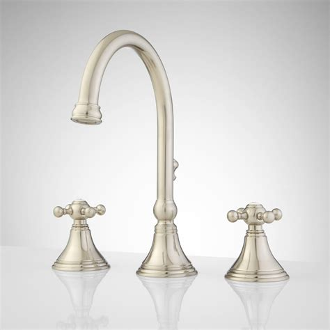 melanie widespread gooseneck bathroom faucet