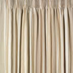 awning stripe cotton pencil pleat ready made curtains at