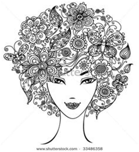 doodle meaning faces intricate coloring pages of the forest norma
