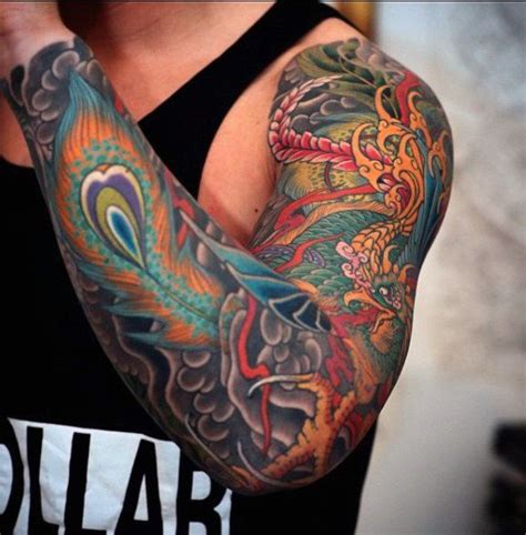phoenix sleeve tattoo designs 23 best tattoos for images on arm