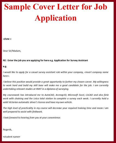 standard cover letter for application application cover letter format letter template