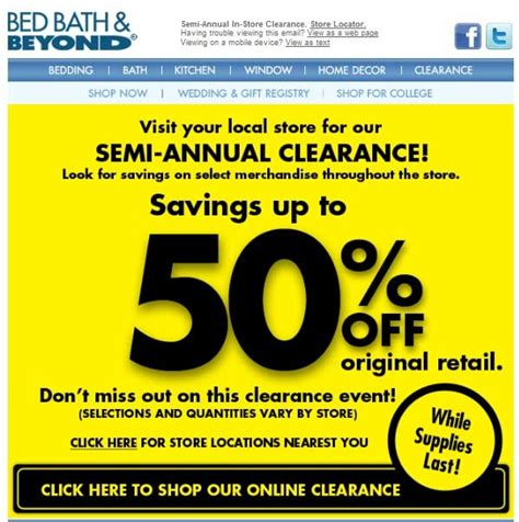 bed bath and beyond clearance bed bath and beyond printable coupons come in store and