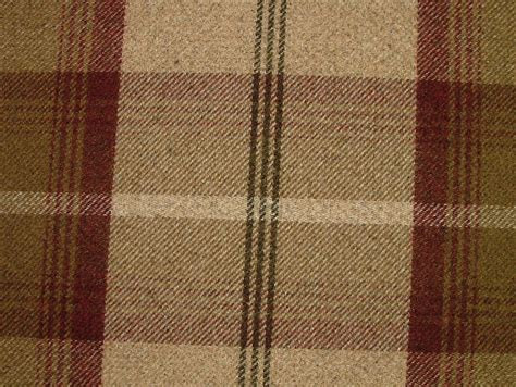 thick curtain fabric balmoral mulberry wool effect washable thick tartan