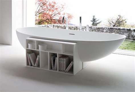 bathtub books free standing modern bathtub with book storage breathe