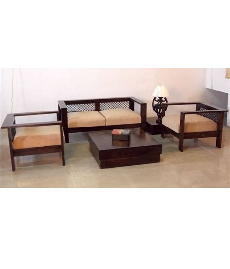 Induscraft Stylish Indian Wooden Sofa Set Centre Table