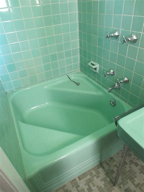 green bathtub 6 vibrant 1950 classic restrooms the comer residence in