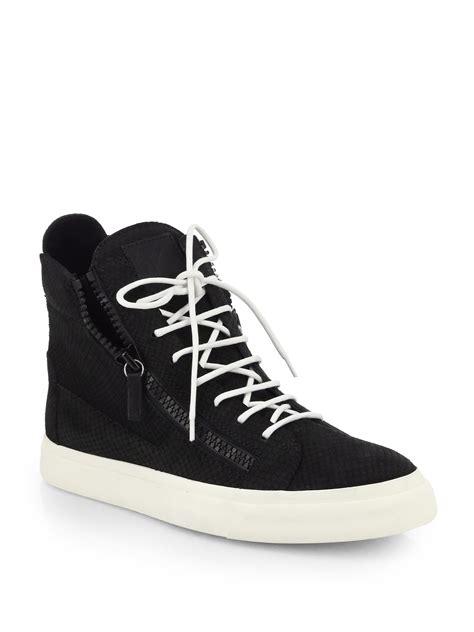 snakeskin giuseppe sneakers giuseppe zanotti snakeskin embossed leather high top
