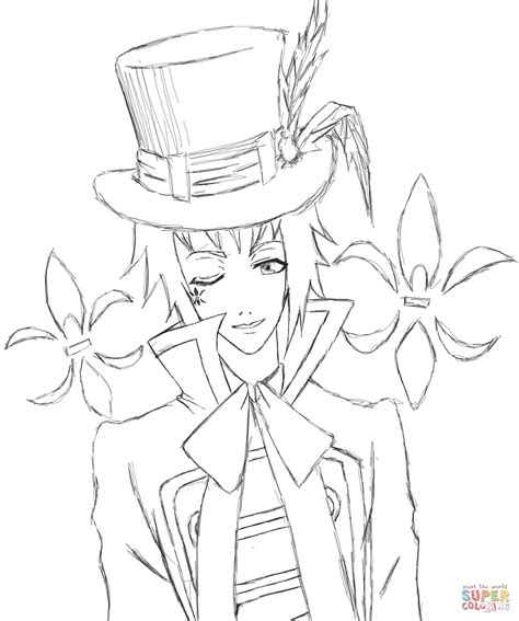 black butler coloring pages edward midford from kuroshitsuji coloring page free