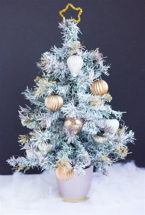 spray painted christmas trees white spray paint tree allfreeholidaycrafts