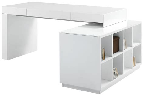 Modern Desk With Storage White Lacquer Two Office Desk With Built In Bookcase Tennessee J M 005