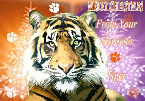 items similar  favorite tiger christmas card  etsy