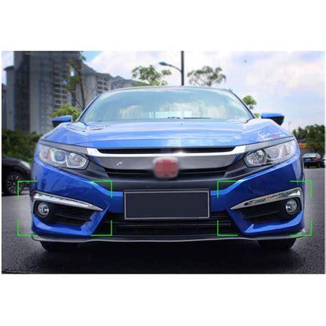 Stop L Honda Civic 2016 On Sedan Light Bar Smoke for honda civic 2016 2017 chrome car front fog light l cover trim 2pcs ebay