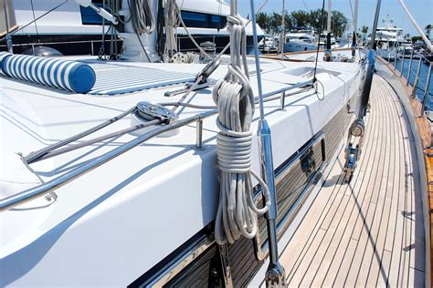 boat foredeck cushions free photo sailing yacht starboard rigging free image