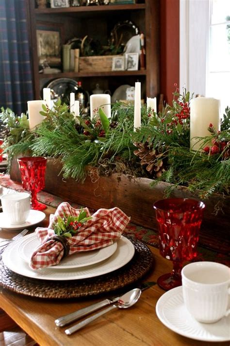 christmas table setting 24 inspiring rustic christmas table settings digsdigs