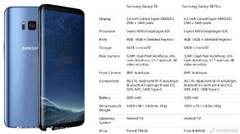galaxy s8 s8 plus official specs price vs galaxy s7