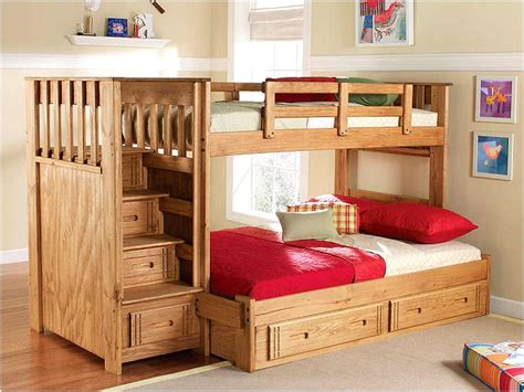 bunk beds full over queen functional full over queen bunk bed with stairs design