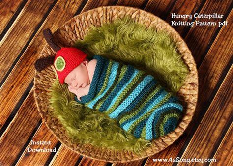 knitting pattern very hungry caterpillar caterpillar baby cocoon and hat knitting pattern in plain