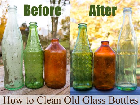 Diy Recycled Home Decor by How To Clean Old Glass Bottles