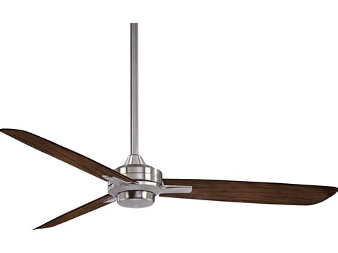 wide blade ceiling fans minka aire rudolph brushed nickel with medium maple blades