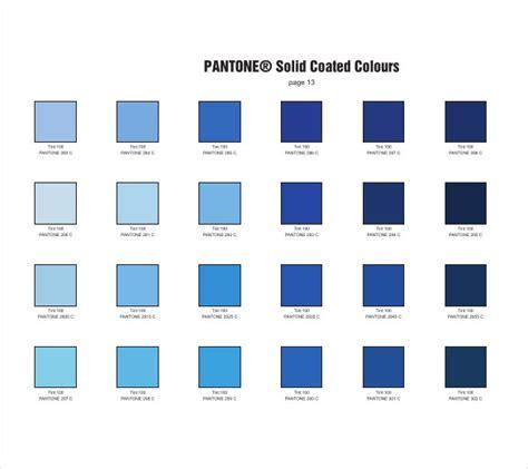 pantone color blue pantone color chart template 7 free word excel pdf