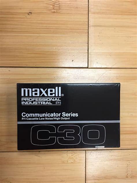 c30 cassette maxell c30 cassette sealed qty 9 abc reverb