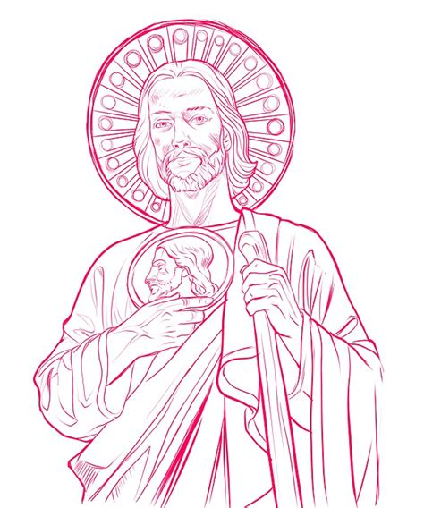 drawing of saint jude bing images