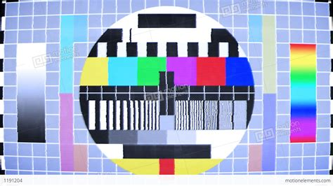 test pattern for led tv tv test screen with color bars stock animation 1191204