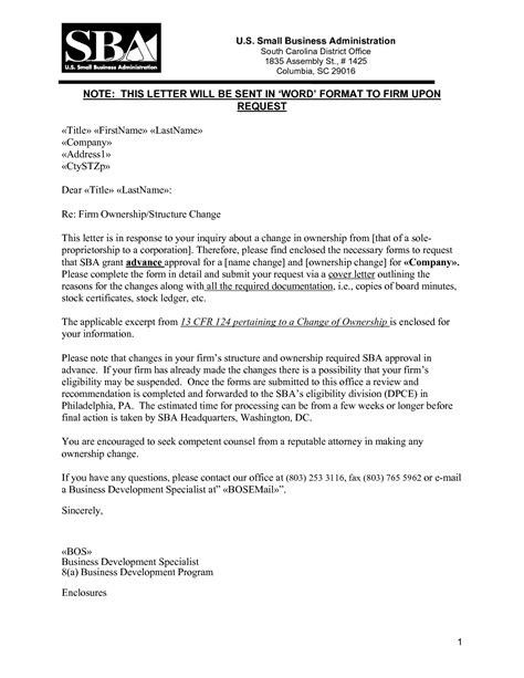 Transfer Business Letter best photos of transfer of ownership letter sle