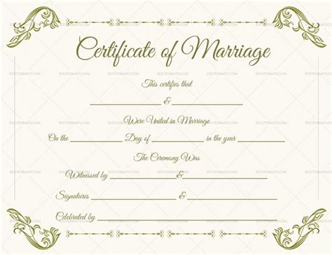 blank marriage certificate template marriage certificate template 22 editable for word