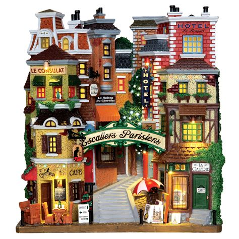 lemax christmas villages lemax collection building parisian stairs b o 4 5v