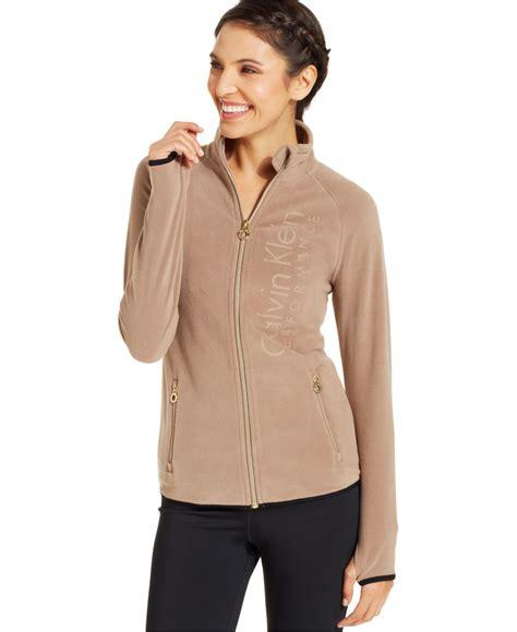 Jaket Zipper Hoodie Sweater Nin Hitam lyst calvin klein performance logo fleece zip up jacket in