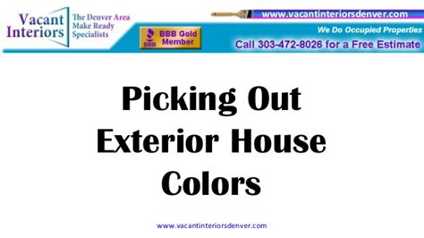 picking out exterior house colors