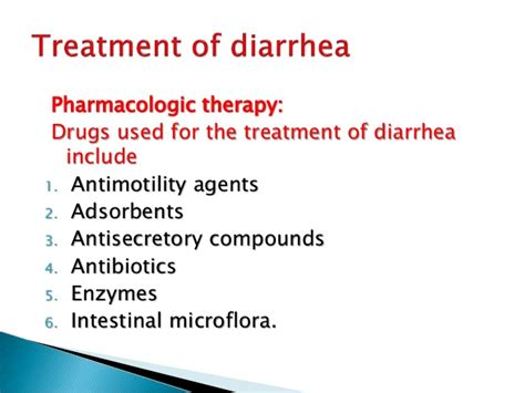 diarrhea treatment treatment of diarrhea