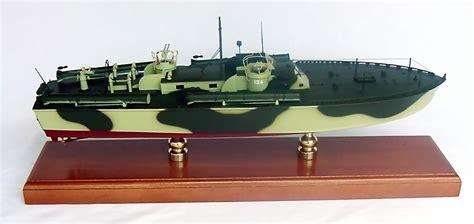 pt boat wood model pt 134 patrol torpedo boat custom mahogany boat model