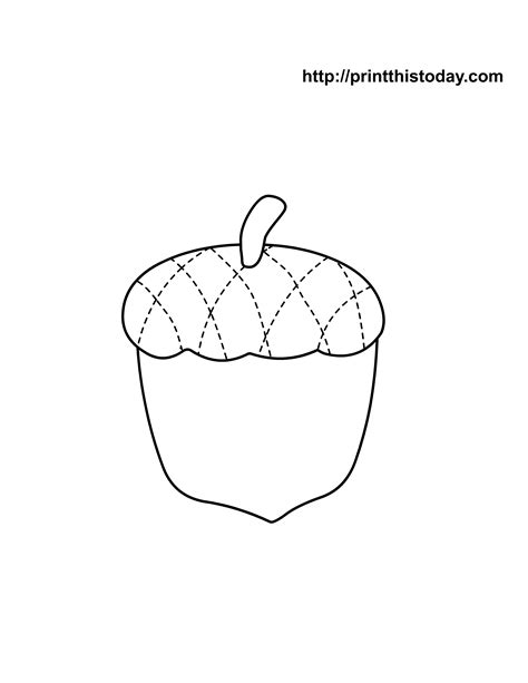 Free Printable Autumn Fall Coloring Pages Acorn Coloring Pages