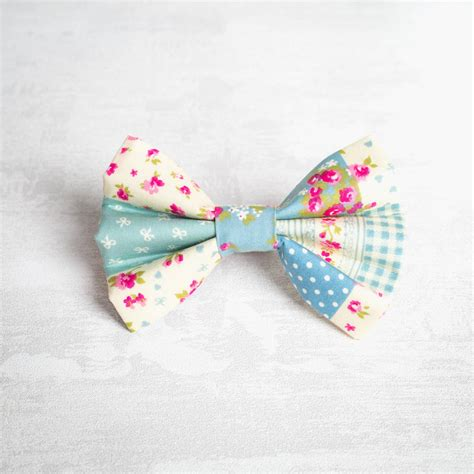 Patchwork Bow Tie - pink patchwork bow tie for or boys by and