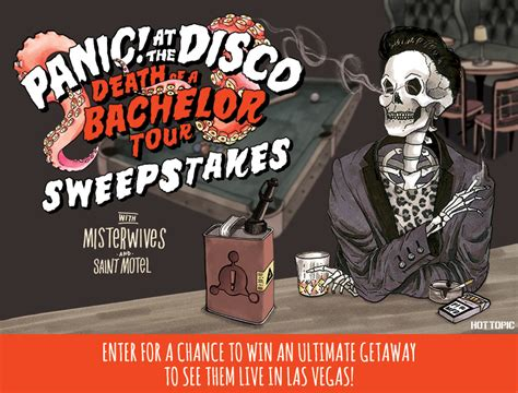 Death Sweepstake - panic at the disco death of a bachelor tour sweepstakes