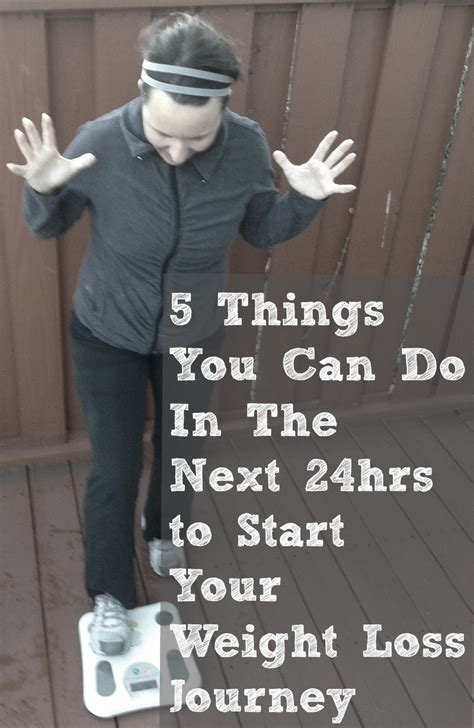 weight loss start 5 things you can do to get started with losing weight
