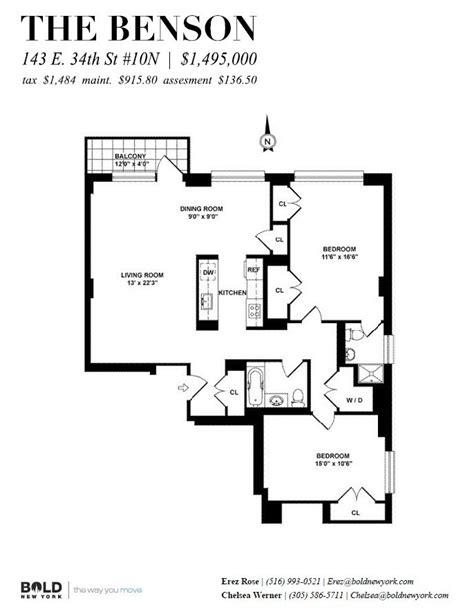 10 east 34th 3rd floor new york ny 10016 streeteasy the benson condominium at 143 east 34th